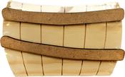 Foundations Decor Wood Barrel W/Bands