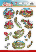 Farm House - Find It Yvonne Creations Country Life Punchout Sheet