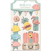 Layered Chipboard Stickers - Escape to Paradise - Bo Bunny