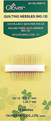 No. 12 - Clover Quilting Needles 15/Pkg