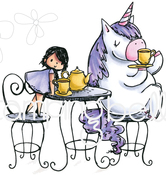 Rosie & Bernie Have A Tea Party - Stamping Bella Cling Stamps