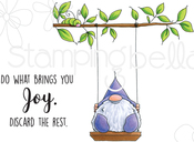 Gnome On A Swing - Stamping Bella Cling Stamps