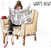 Uptown Girl Nancy Reads The Newspaper - Stamping Bella Cling Stamps