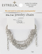 "Silver Medium Elongated Oval Unfinished - Estrella (TM) Metal Chain 39"""