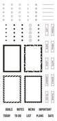 Make a List Stamps - Simple Stories - PRE ORDER