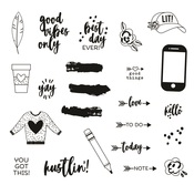 Good Vibes Stamps - Simple Stories - PRE ORDER