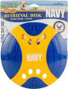 """Yellow/Blue - US Navy Retrieval 9"""" Disk Dog Toy"""
