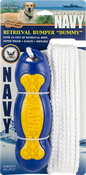 "Yellow/Blue - US Navy Retrieval 9""x2.75"" Bumper Dummy W/24' Of Rope"