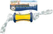 "Yellow/Blue - Us Navy Buoy Retrieval Rope Chew 12""x2.5"" Dog Toy"