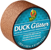 Rose Gold Sparkle - Glitter Duck Tape 1.88 X180  Duck Glitter crafting tape adds sparkle and shine without the mess. Perfect to use with other Duck Tape projects, glitter tape is an easy way to glam up home decor, accessories and holiday or party decorations-with no worry about glitter flaking off! Made from durable film for lasting sparkle, the self-adhesive tape with no paper is easy to apply. It works on a variety of surfaces, including wood, vinyl, plastic, leather, metal, laminate and Duck Tape brand duct tape. Easy to cut with a scissors. Package includes one roll 1.88 inches wide by 180 inches long. Imported.