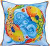 Dancing Fish (17.5 X17.5 ) - Diamond Dotz Diamond Embroidery Pillow Facet Art Kit Quick, easy and fun to do! Just use the Diamond Dotz Stylus to pick up a dot and place it onto the matching square on the sticky print. This package contains one piece of high quality color printed fabric, Diamond Dotz, one stylus, one craft tray, one wax caddy and multi-lingual instructions. Design: Dancing Fish. Design Size: 17.5x17.5 inches. Imported.