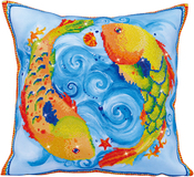 "Dancing Fish (17.5""X17.5"") - Diamond Dotz Diamond Embroidery Pillow Facet Art Kit"