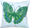 Green Flutter 17.5 X17.5  - Diamond Dotz Diamond Embroidery Pillow Facet Art Kit Quick, easy and fun to do! Just use the Diamond Dotz Stylus to pick up a dot and place it onto the matching square on the sticky print. This package contains one piece of high quality color printed fabric, Diamond Dotz, one stylus, one craft tray, one wax caddy and multi-lingual instructions. Design: Green Flutter. Design Size: 17.5x17.5 inches. Imported.