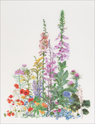 "American Wild Flowers On Aida (16 Count) - Thea Gouverneur Counted Cross Stitch Kit 19.25""X26.5"""