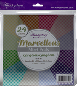 "Gorgeous Gingham, 12 Colors/2 Each - Hunkydory Marvellous Mirri 8""X8"" Paper Pad 24/Pkg"