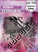"Graphic - Studio Light Mixed Media 5""X5"" Background Stamp"