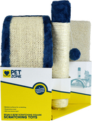 Pet Zone Beam & Bow Scratch Post Square
