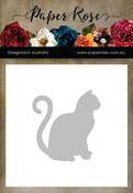 Sitting Cat - Large - Paper Rose Dies