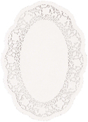"7"" Oval White 18/Pkg - Paper Doilies"
