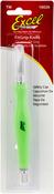 Green - Ergonomic Soft Grip Knife W/Cap