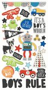 Lil Dude Chipboard Stickers - Simple Stories