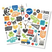 Lil Dude Puffy Stickers - Simple Stories - PRE ORDER