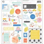 Simple & Sweet Chipboard Stickers - Pinkfresh