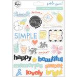 Simple & Sweet Puffy Stickers - Pinkfresh