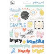 Simple & Sweet Puffy Stickers - Pinkfresh
