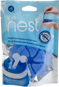 """Blue - The Nest 2.5"""" Round Earbud Case"""