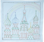 Rainbow Palace - Sashiko World Russia Stamped Embroidery Kit