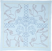 Galloping Horses - Sashiko World Russia Stamped Embroidery Kit
