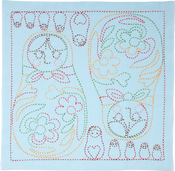 Matryoshka - Sashiko World Russia Stamped Embroidery Kit