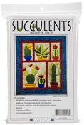 """Succulents - Rachel's Of Greenfield Wall Quilt Kit 13""""X15"""""""
