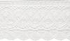 White - Simplicity Cluny Fan Lace 3.5 X12yd Simplicity-Cluny Fan Lac. Adds a bohemian touch to dresses, blouses, skirts, fashion accessories and home accents. 100% cotton. Machine washable. Height: 3.5 inches. 12 yards on a full reel. Imported.
