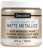 Ivory Pearl - Americana Decor Matte Metallics 8oz Americana Decor Matte Metallic paint will add a classic, matte metallic sheen to furniture and home decor projects. Cures to a hard, smooth finish in 1 to 2 weeks. Perfect for subtle accenting or full coverage application. This package contains 8oz of matte metallic finish. Conforms to ASTM D4236. Comes in a variety of colors. Each sold separately. Made in USA.