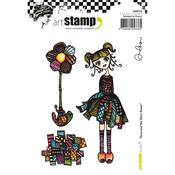 Ilona & The Fabric Flower Carabelle Studio Cling Stamp A6 By Alexi