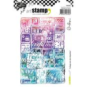 Collage With Labels Carabelle Studio Cling Stamp A6