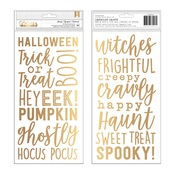 Matte Gold Foil Word Thickers - Pebbles