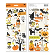 Spooky Boo Black Glitter Stickers - Pebbles