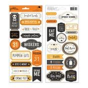 Matte Gold Foil Word Stickers - Pebbles