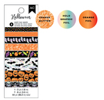Spooky Boo Holographic & Orange Foil Washi Tape - Pebbles