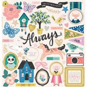 Willow Lane Chipboard Stickers - Crate Paper