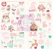 Santa Baby Chipboard Stickers - Prima