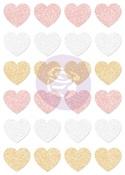 Santa Baby Glitter Stickers - Hearts - Prima