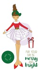 Merry Doll Christmas Stamp - Julie Nutting