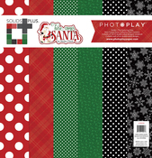 Solids Paper Kit - Here Comes Santa - Photoplay