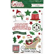 Chipboard Stickers - Here Comes Santa - Photoplay