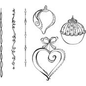 Dangling Ornaments Spellbinders Cling Stamps