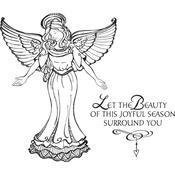Joyful Season Angel Spellbinders Cling Stamps - PRE ORDER